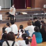 福祉体験学習支援事業 『キャップハンディ体験(沼部小学校)』を行いました(田尻支所)